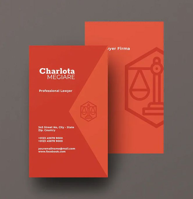 Lawyer Vertical Business Card Template Psd Vector Eps Ai