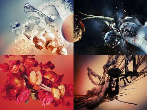Four Seasons by Attila Kozó, via Behance