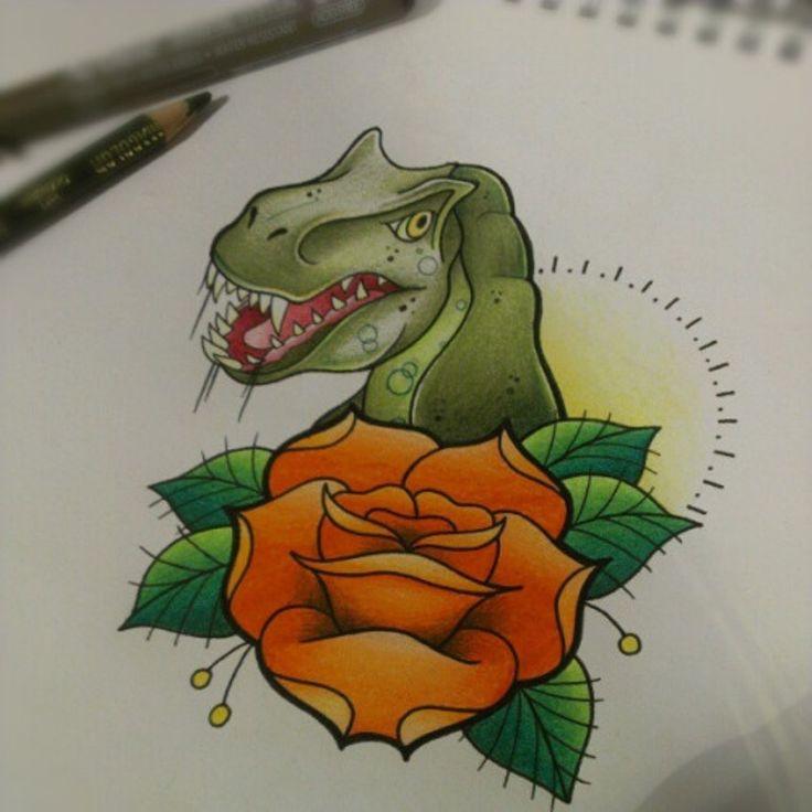 17 best ideas about dinosaur tattoos on pinterest for Minimalist dinosaur tattoo