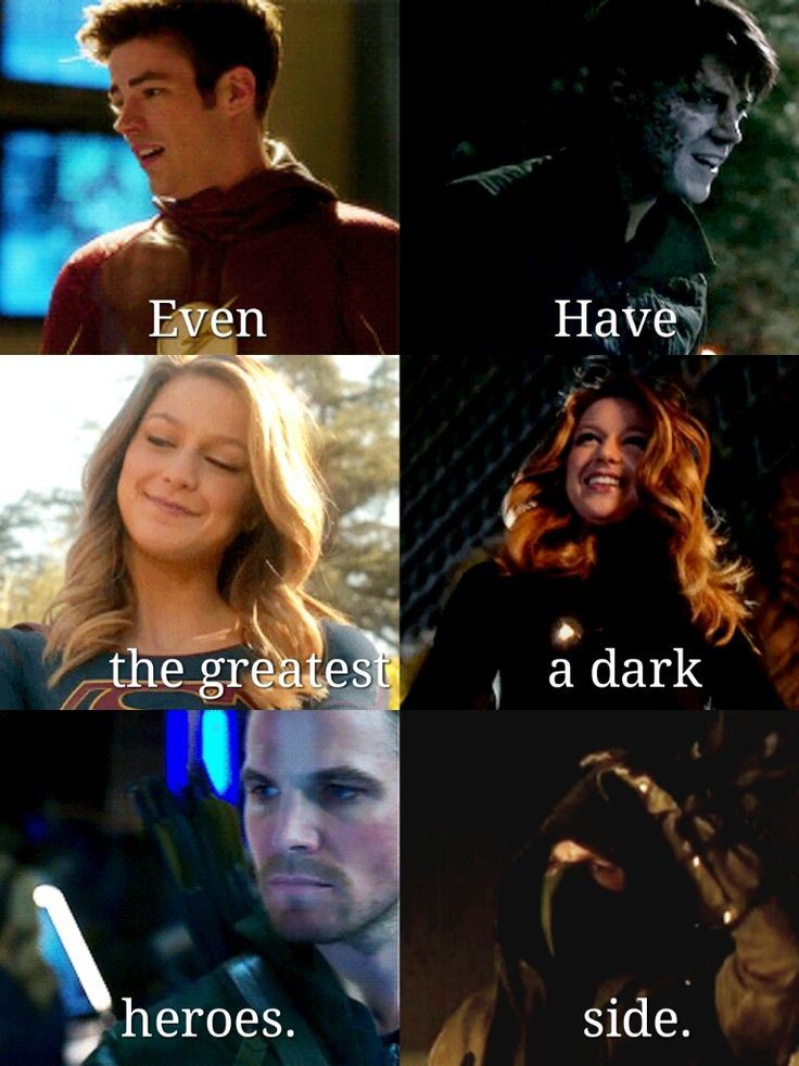 Even the greatest heroes have a dark side. We all have a dark side, even when we don't want to admit it.