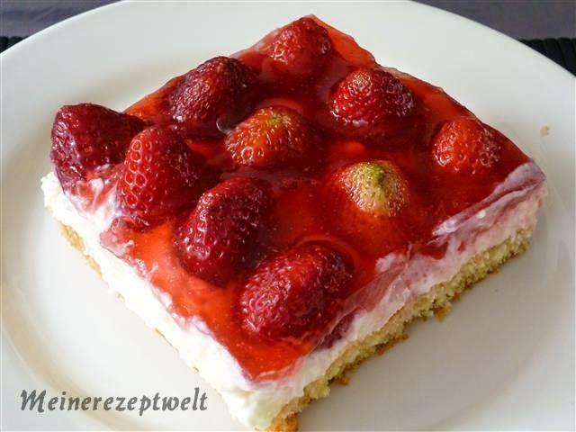 Erdbeer schmand pudding kuchen