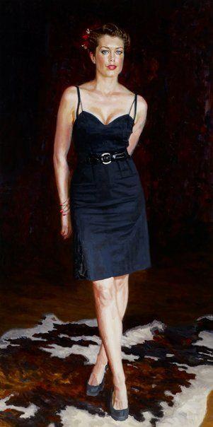 Mathew Lynn: Tara Moss :: Archibald Prize 2013 :: Art Gallery NSW