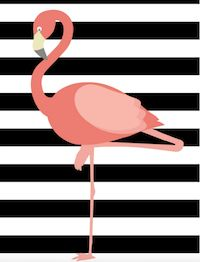 14+ free flamingo downloads Round-up of flamingo printables 1 Free printable watercolor flamingo planner stickers from every...