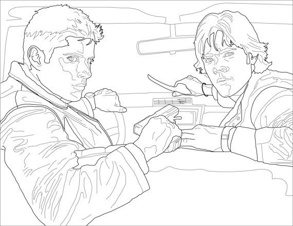 Supernatural Tv Series Coloring Pages