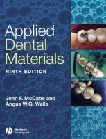 """Applied dental materials : 9th ed."" / edited by John F. McCabe and A. W. G. Walls. Oxford : Blackwell, 2008. Matèries : Materials dentals. #nabibbell"