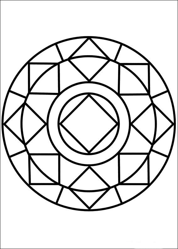 easy simple mandala 85 coloring pages printable and coloring book to print for free find more coloring pages online for kids and adults of easy simple - Simple Mandala Coloring Pages Kid