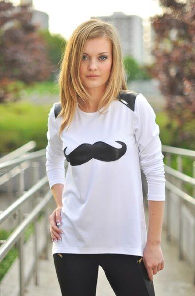 Bluzka Moustache w EltheStyle na DaWanda.com