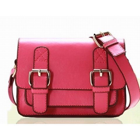 Vintage PU Women's Slanting Bag With Buckle and Small Covered Design, ROSE in Women's Handbags | DressLily.com
