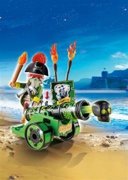 Playmobil Zipper Bag Πράσινο Κανόνι Με Καπετάνιο Πειρατή (6162) 9,99