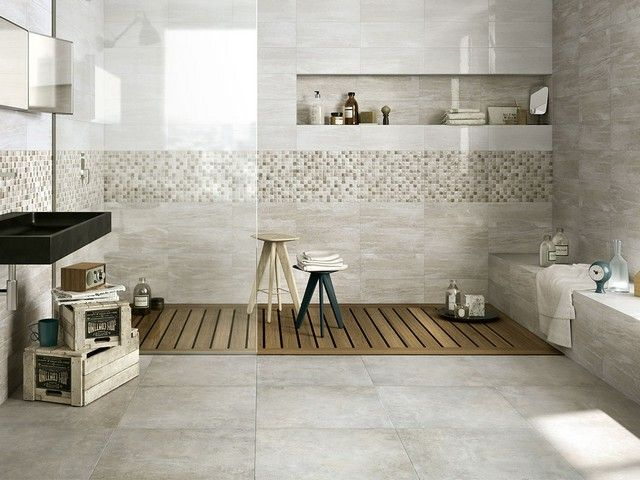 338 best images about gres porcellanato on pinterest shower accessories lodges and lava - Cementina bagno ...