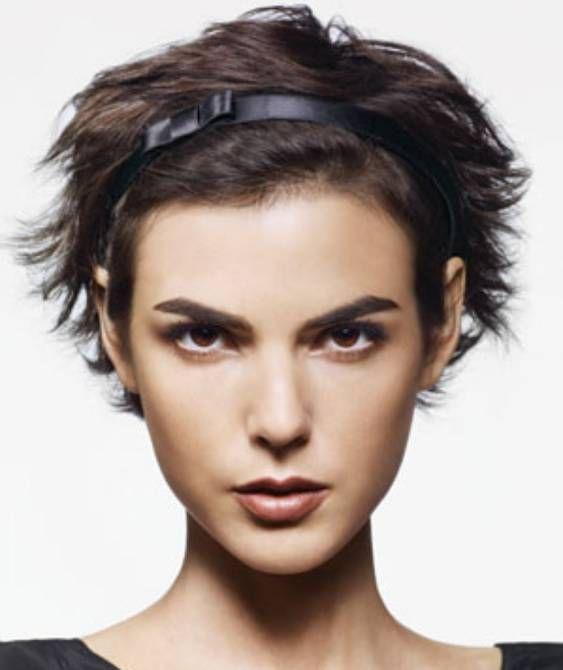 Easy Hairstyles For Work Short Hair : 41 best headbands short hair images on pinterest