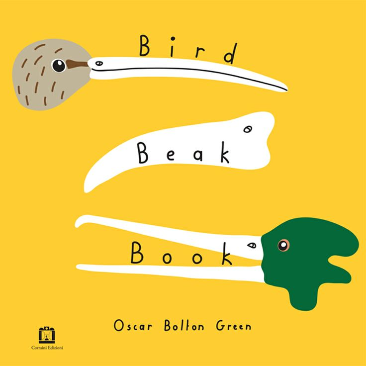 Clean shapes and bold colours with simple text is so pleasing.: Beak Book, Dei Becchi, Birds