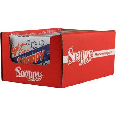 Snappy Popcorn Microwave Popcorn Display Flavour: Butter