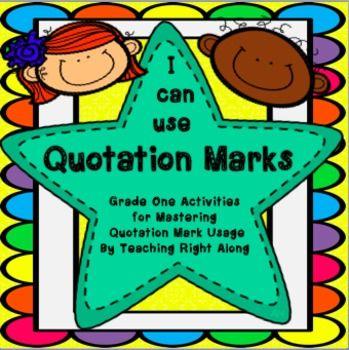 quotation marks homework