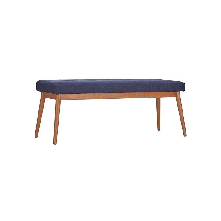 HomeVance Allegra Midcentury Bench, Blue