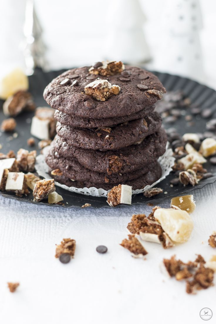 Soft Chocolate Chip Cookies mit Lebkuchenstückchen und kandiertem Ingwer / www.backbube.com - Foodblog