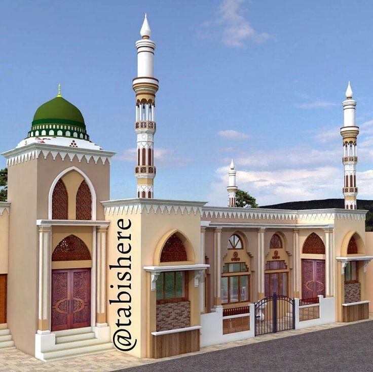 Masjid design. -- #TabishereArt -- #arquitetura #architecture #design #islamicart #casacontemporanea #art #arquiteto #architect #arquiteturamoderna #modernarchitecture #interiordesign #decoration #decorations #boanoite #color #blue #instadesign #instaart #instaarchitecture #vray #sketchup #dome #islam #piscina #exteriordesign #masjid #exterior #mosque
