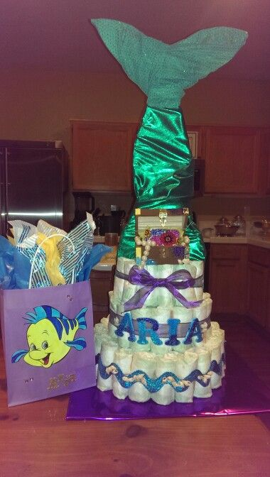 Little Mermaid Diaper Cake My Crafts Pinterest
