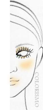 顔型別・似合うメイクレッスン(4)~離れ目タイプ~    30代からの美人顔メーク&似合うファッション日記   COLORISMO