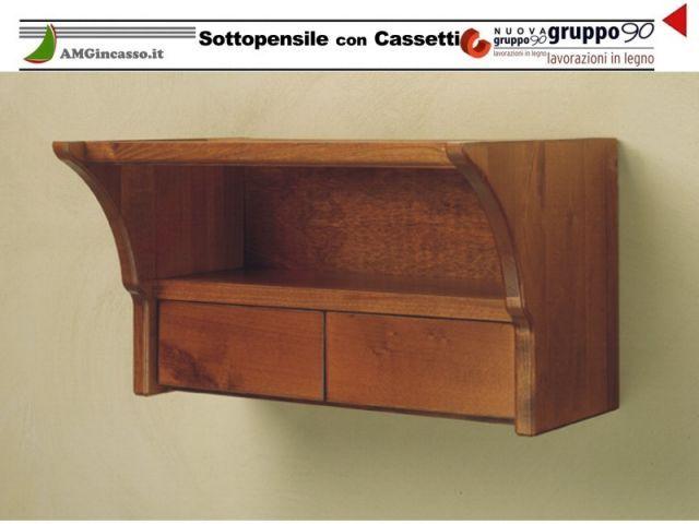 Cc/g/45   sottopensile con cassetti 45 legno grezzo incasso cucina ...