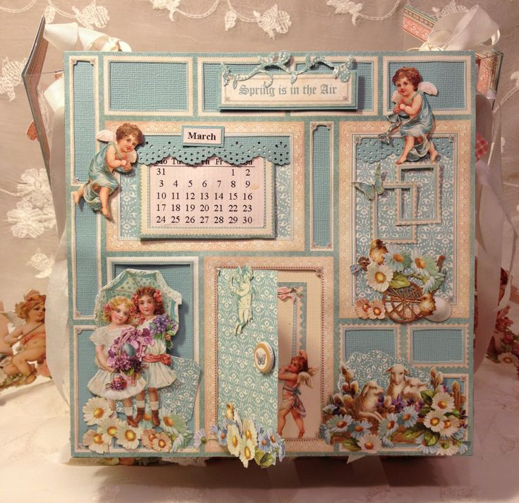 Sweet Sentiments easel mini album calendar - Anne Rostad