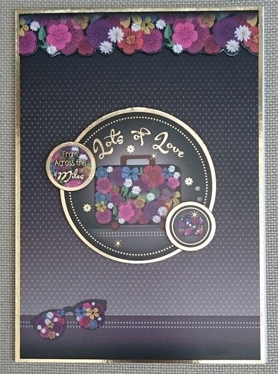 Handmade C5 Greeting Card  Across the Miles by BavsCrafts on Etsy