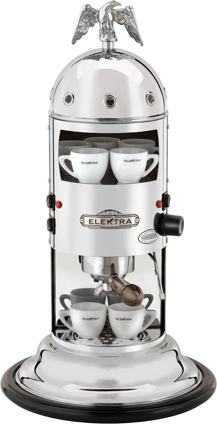 Vertical home espresso machine to use with ground coffee (we also provide an adapter kit for espresso machine). A real Italian espresso, contact Elektra now.