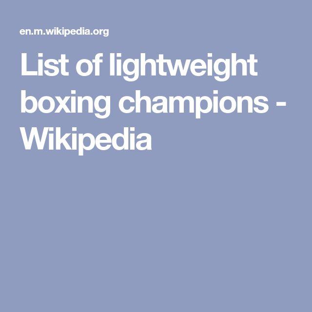 List of lightweight boxing champions - Wikipedia