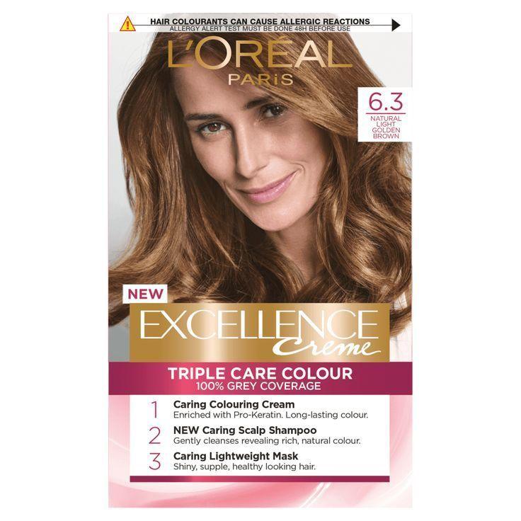Loreal Paris Excellence Creme 6 3 Natural Light Golden Blonde Hair Dye 63 B
