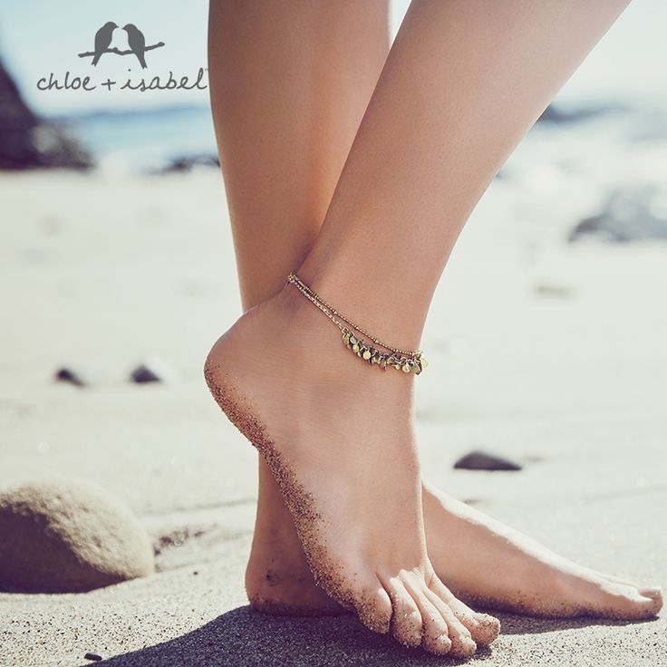 Put your best foot forward with our bohemian-luxe anklet, available now on my boutique!