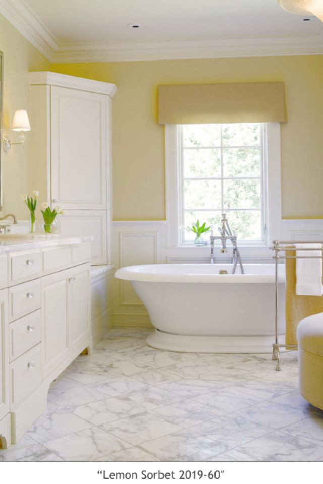 Benjamin moore lemon sorbet bathroom master bedroom in - Master bedroom and bathroom paint colors ...