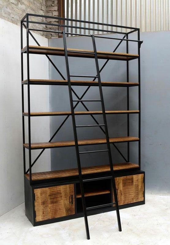 Industriële Boekenkast Met Ladder Sweet Sense Deze