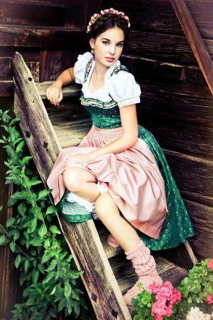 Lena Hoschek Dirndlkleid, Petticoat Dirndl grün. Kollektion 2013