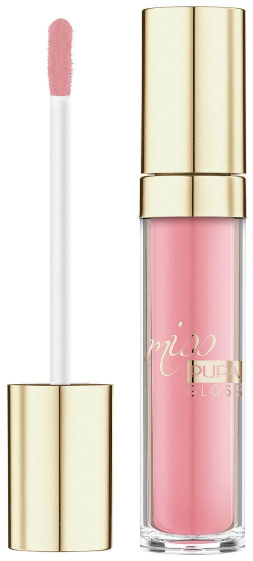 PUPA Miss Gloss, Błyszczyk Do Ust, Kolor 207 Doll Pink, 5 ml Zapewnia długotrwały efekt błyszczących, pełnych objętości i nawilżonych ust