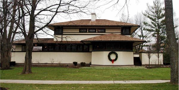 Органическая архитектура: Фрэнк Ллойд Райт (Frank Lloyd Wright): F. B. Henderson House, Elmhurst, Illinois (Дом Ф.Б. Хендерсона, Элмхерст, Иллинойс), 1901