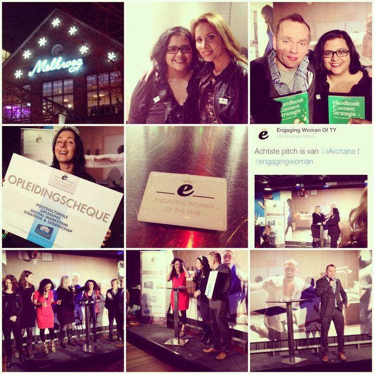 Gisterenavond was de finale van Engaging Woman of the Year in de Melkweg in Amsterdam. Wat was het toch een feestje en wat een eer om 1 van de 10 finalisten te mogen zijn! Zoveel inspirerende vrouwen ontmoet en dan met elkaar niet praten over sociale media is zo mooi. Iedereen bedankt voor deze geweldige avond!   Meer foto's kun je zien via Instagram www.instagram.com/iarchana