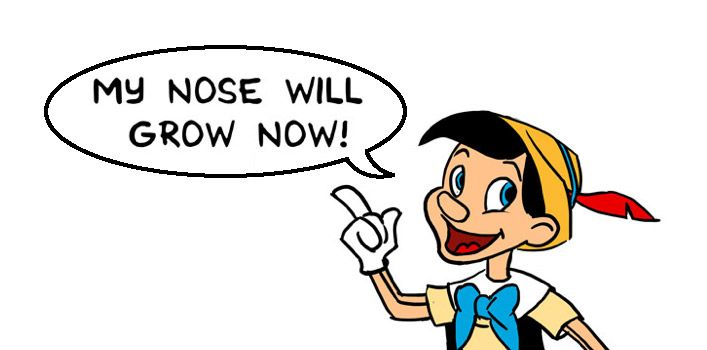 """So there's a good chance you've not heard of this before, but if Pinocchio said the statement """"My nose will grow now"""" it would cause be a paradox...  Let me explain, as we all know, Pinocchio's nose grows when he tells a lie, so if he said 'my nose will grow now' - if his nose"""