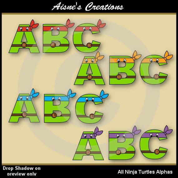 All Tmnt Ninja Turtles Alphabet Letters Amp Numbers Clip