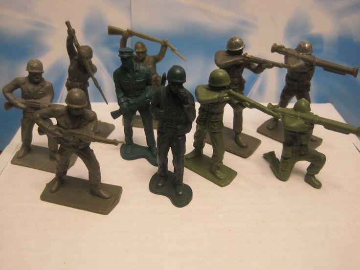 AUBURN WERNER TIM MEE PLAYSET VINTAGE 1960s WWII ARMY 60MM PLASTIC TOY SOLDIER #WERNERTOYSTIMMEEAUBURN