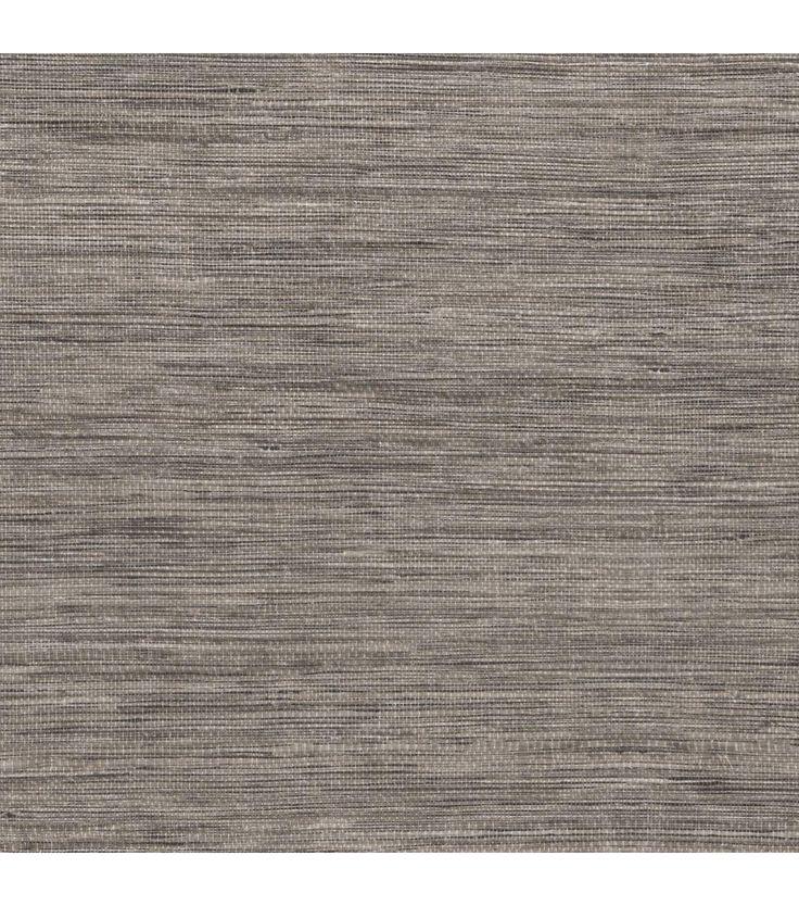 Patterned Grasscloth Wallpaper: Tapis Grey Faux Grasscloth Wallpaper