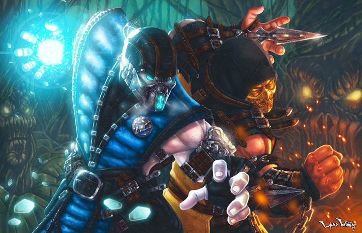 My entry for the MK Kollective, I'm a huge fan of Mortal Kombat all my life, this the new Sub-Zero and Scorpion in the classic stage The Living Forest, draw the suits was damn too hard, I hop...