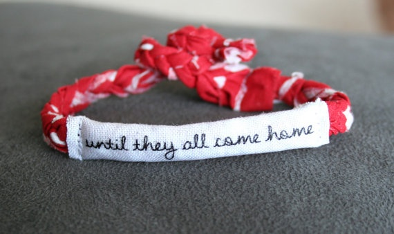 Red Friday Military Support Bracelet