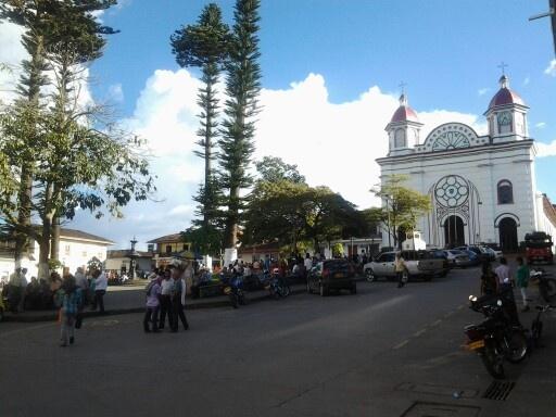 La iglesia de Aguadas, Caldas