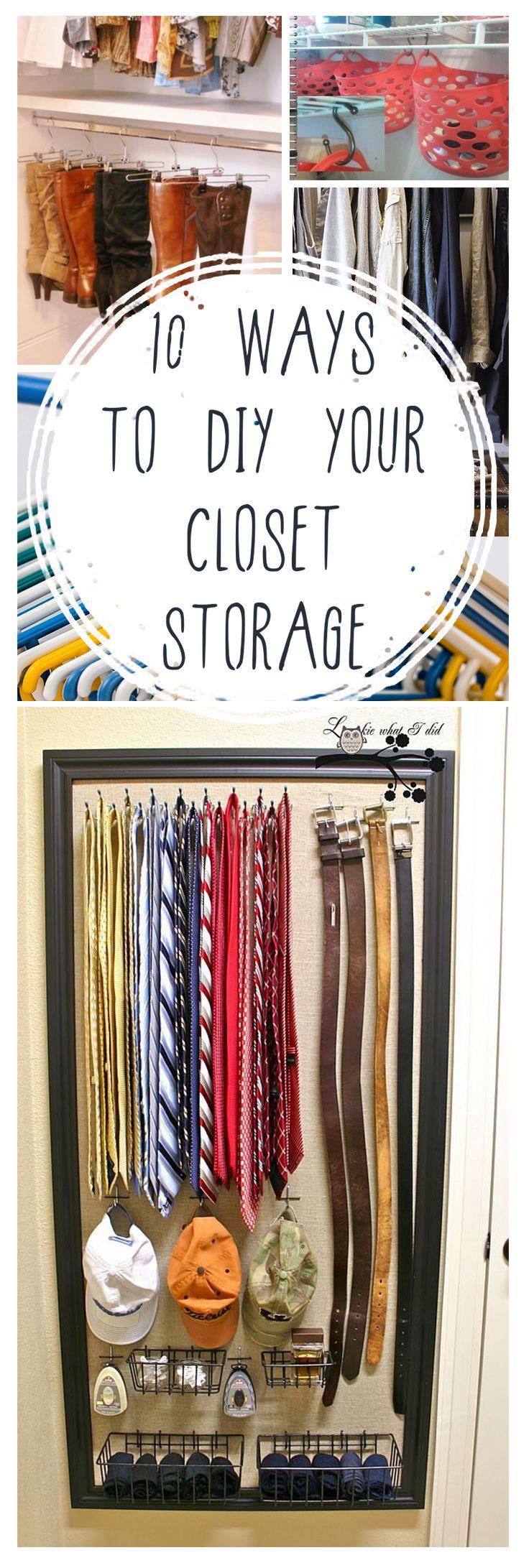 Closet storage, easy closet storage, closet organization, popular pin, DIY organization, organized home, home organization, get organized, stay organized.