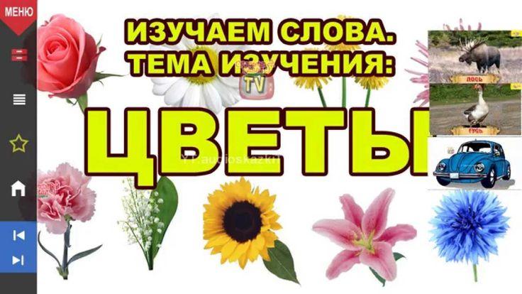 Изучаем слова. Цветы. Обучающее видео для детей 1-3 года.