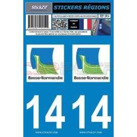 Stickers de plaque auto Calvados