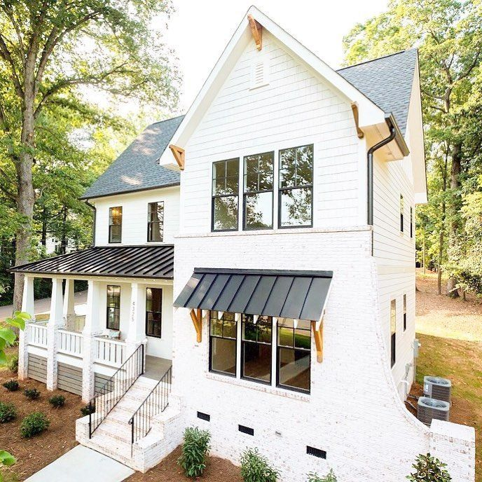 Best White Siding White Bricks Charcoal Roof Charcoal Tin 640 x 480