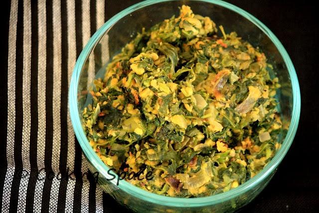 Fenugreek leaves with chickpeas flour (Methi Besan)
