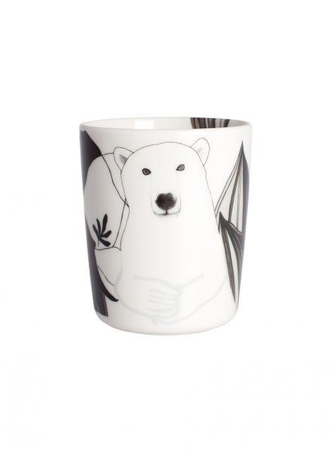 Oiva/Nanuk mug (white,grey,black) |Marimekko
