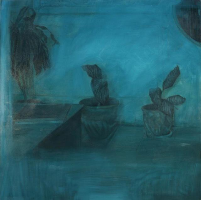 Ramón Serrano, Interiores de la Habana No.3, 2011, oil on canvas, 78x78in © Courtesy Corkin Gallery #travel